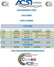 Calendario Aggiornato 29-09-20- Ottobre-Novembre-Dicembre